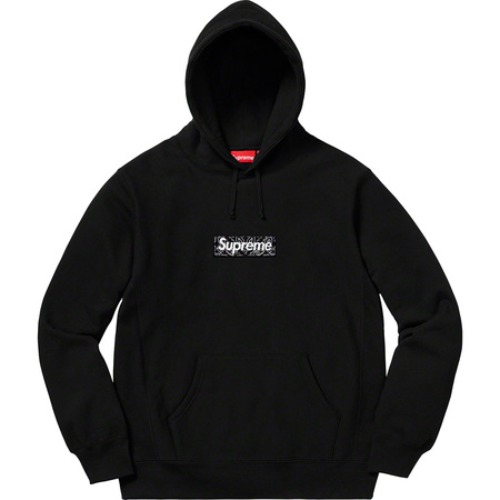 슈프림 박스 로고 후드 반다나 블랙 Supreme Bandana Box Logo Hooded Sweatshirt Black