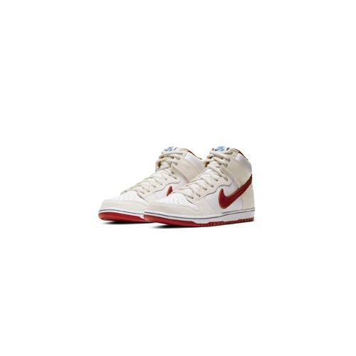 나이키 SB 덩크 하이 크림슨 Nike SB Dunk High Sail Bright Crimson CV9499-100