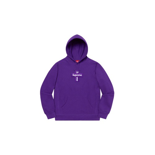 슈프림 크로스 박스 로고 후드 퍼플 Supreme Cross Box Logo Hooded Sweatshirt Purple